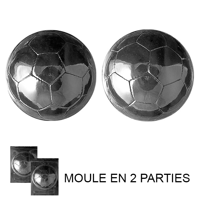 moule chocolat ballon de football 2 moules artgato. Black Bedroom Furniture Sets. Home Design Ideas