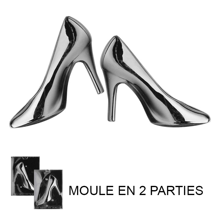 moule chocolat talon aiguille 3d 2 moules artgato. Black Bedroom Furniture Sets. Home Design Ideas