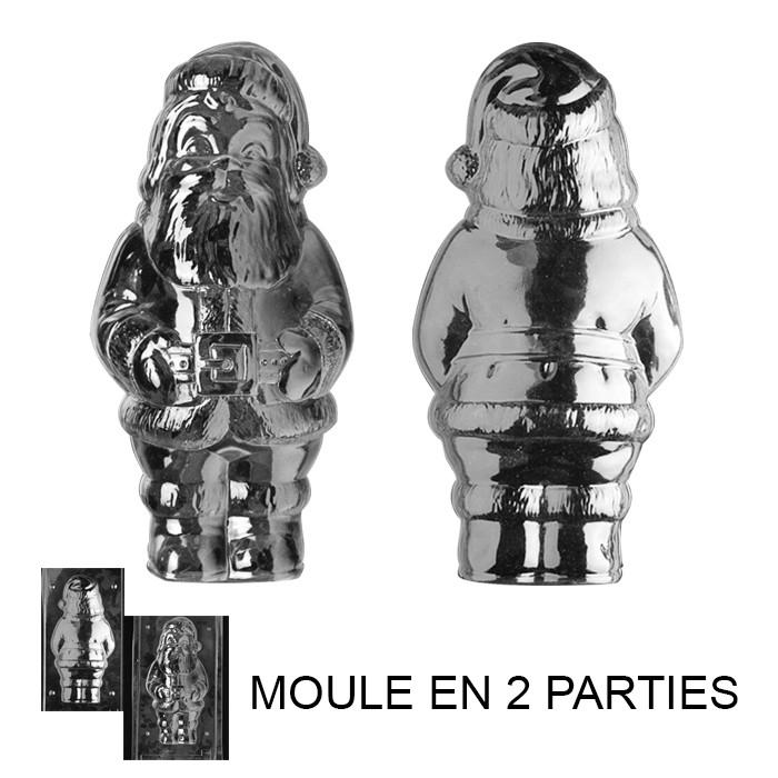 moule pere noel Moule à Chocolat, Grand Père Noël 3D (2 moules)   Artgato moule pere noel
