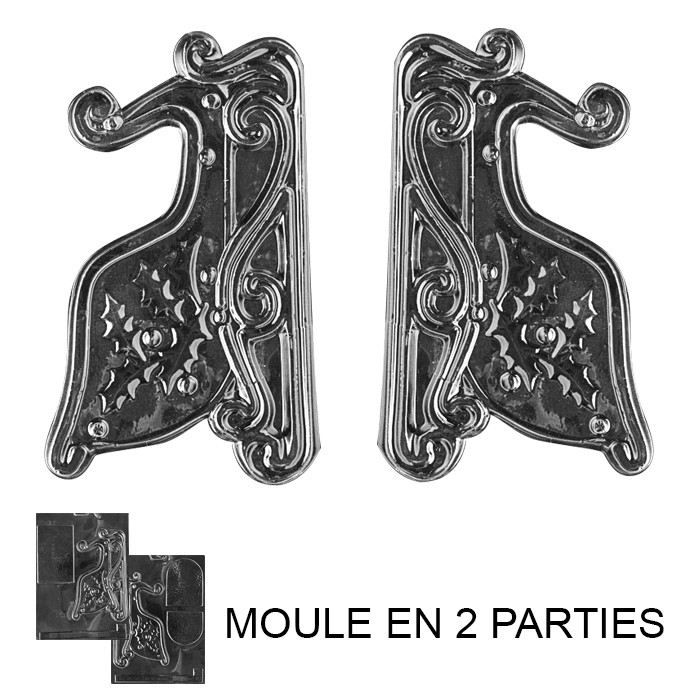 moule chocolat tra neau 3d 2 moules artgato. Black Bedroom Furniture Sets. Home Design Ideas