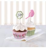 Kit Décor Cupcakes   Oiseaux