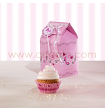 Boîtes Cupcakes | Rose Girly (Cake in the City) - 2 Boîtes pour 1 Cupcake, 9,5 cm x Haut. 12,5 cm