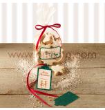 Sachets Cellophane avec Rubans et Etiquettes | 6 Sachets à Fond Plat - 23,5 x 14,5 cm