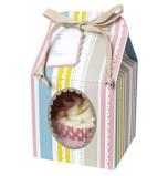 Rayures Roses - 4 Boîtes pour 1 Cupcake