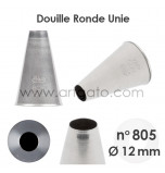 Douille Ronde Unie - n°805 / Ø 12 mm
