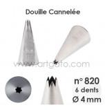Douille Cannelée (Étoile) - n°820 / Ø 4 mm
