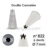 Douille Cannelée (Étoile) - n°822 / Ø 7 mm