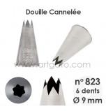 Douille Cannelée (Étoile) - n°823 / Ø 9 mm