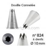 Douille Cannelée (Étoile) - n°824 / Ø 10 mm