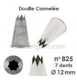 Douille Cannelée (Étoile) - n°825 / Ø 12 mm