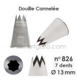 Douille Cannelée (Étoile) - n°826 / Ø 13 mm