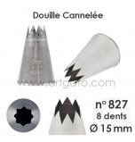 Douille Cannelée (Étoile) - n°827 / Ø 14 mm