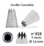 Douille Cannelée (Étoile) - n°828 / Ø 16 mm