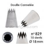 Douille Cannelée (Étoile) - n°829 / Ø 18 mm