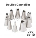 Douilles Cannelées (Étoiles) - Jeu de 10