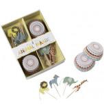 Caissettes et Décors Cupcakes Meri Meri® | Animaux
