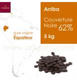 Couverture Pastilles Chocolat Arriba Équateur Noir 62%