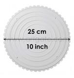 2 Assiettes RONDES Blanches Ø 25 cm