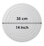 2 Assiettes RONDES Blanches Ø 35 cm