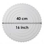2 Assiettes RONDES Blanches Ø 40 cm