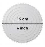 2 Assiettes RONDES Blanches Ø 15 cm