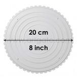 2 Assiettes RONDES Blanches Ø 20 cm