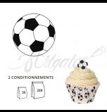 Ballon de Football - Ballon et Réalisation Cupcake