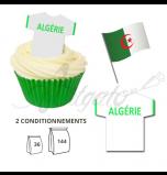 Maillot Equipe Algérie - Maillot et Réalisation Cupcake