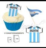 Maillot Equipe Argentine - Maillot et Réalisation Cupcake