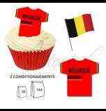Maillot Equipe Belgique - Maillot et Réalisation Cupcake