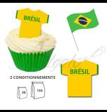 Maillot Equipe Brésil - Maillot et Réalisation Cupcake