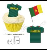 Maillot Equipe Cameroun - Maillot et Réalisation Cupcake