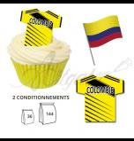 Maillot Equipe COlombie - Maillot et Réalisation Cupcake