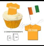 Maillot Equipe Côte d'Ivoire - Maillot et Réalisation Cupcake