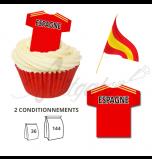 Maillot Equipe Espagne - Maillot et Réalisation Cupcake