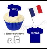 Maillot Equipe France Les Bleus - Maillot et Réalisation Cupcake
