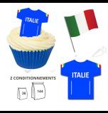 Maillot Equipe Italie - Maillot et Réalisation Cupcake