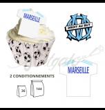 Maillot OM / Olympique de Marseille - Maillot et Réalisation Cupcake
