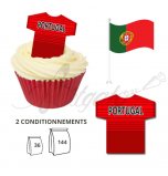 Maillot Equipe Portugal - Maillot et Réalisation Cupcake