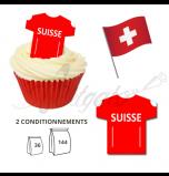 Maillot Equipe Suisse - Maillot et Réalisation Cupcake