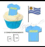 Maillot Equipe Uruguay - Maillot et Réalisation Cupcake