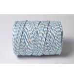 Cordelette Baker's Twine | Bicolore Bleu Azur et Blanc - Echeveau 10 m