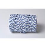 Cordelette Baker's Twine | Bicolore Bleu Roi et Blanc - Echeveau 10 m