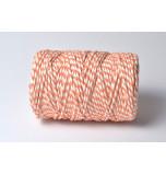 Cordelette Baker's Twine | Bicolore Orange et Blanc - Echeveau 10 m