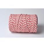 Cordelette Baker's Twine | Bicolore Rouge et Blanc - Echeveau 10 m