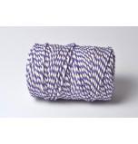 Cordelette Baker's Twine | Bicolore Violet et Blanc - Echeveau 10 m