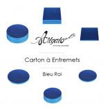 Cartons à entremets - Bleu Roi - Ronds 30 cm