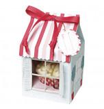 Boîtes Cupcakes Meri Meri® | Pâtisserie Rose et Rouge - 4 Boîtes pour 1 Cupcake