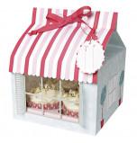 Boîtes Cupcakes Meri Meri® | Pâtisserie Rose et Rouge - 3 Boîtes pour 4 Cupcakes