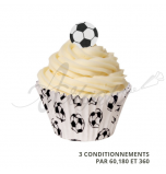 Caissettes Cupcake - Football